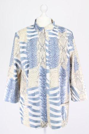 Karlsbader Jacke mit Muster blau Größe 48