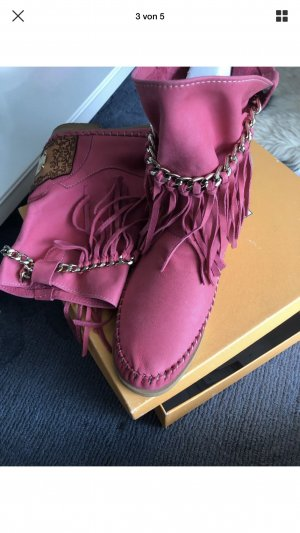 Karma Booties pink leather