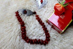 Karneol antik Halskette orientalisch, Silberverschluß 'Turkoman'-schmuck Rarität