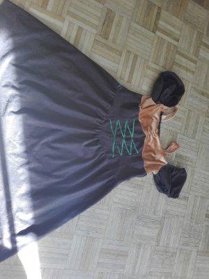 Off-The-Shoulder Dress dark brown