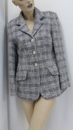Wool Blazer black-natural white wool
