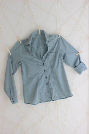 Karo-Bluse mit Krempel-Ärmeln
