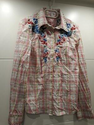 Karo-Bluse mit Nieten
