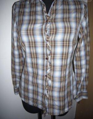 Karo Bluse - Trendy zu Jeans, Größe 34/36