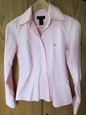 Karo-Bluse von Gant rosa/weiß