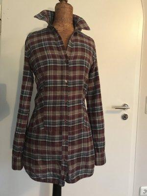 Karo-Bluse von Zara Größe S