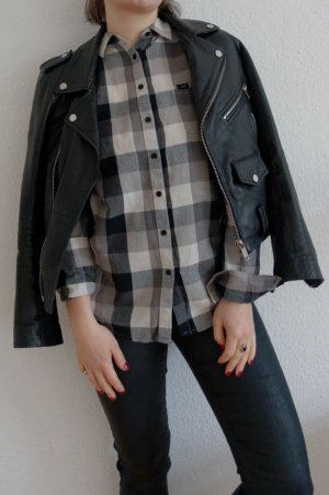 Karo Button-up Hemd Lee in schwarz-weiß