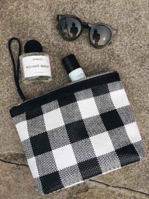 Clutch black-white leather