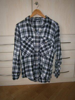 Camicia da boscaiolo nero-bianco