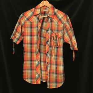 Karo Hemd Bluse von Lee XS/S 34/36 gelb/orange/blau