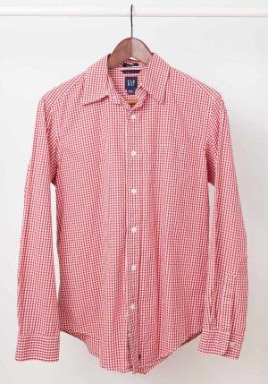 Gap Shirt met lange mouwen rood-wit Katoen
