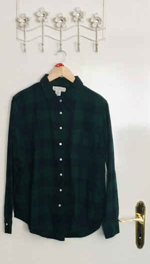 H&M L.O.G.G. Lumberjack Shirt dark blue-cadet blue cotton
