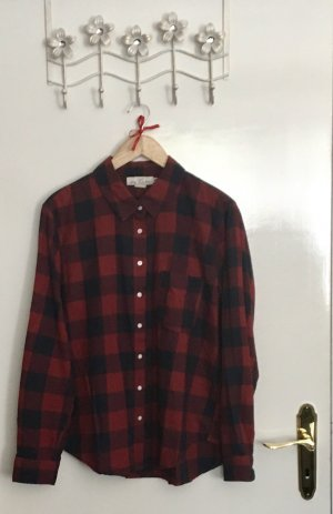 H&M L.O.G.G. Lumberjack Shirt dark blue-carmine cotton