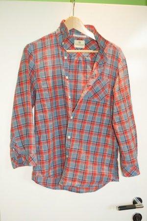 Maison Scotch Shirt met korte mouwen veelkleurig Katoen