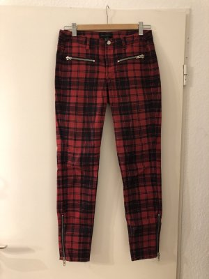 Mango Drainpipe Trousers dark red-dark blue