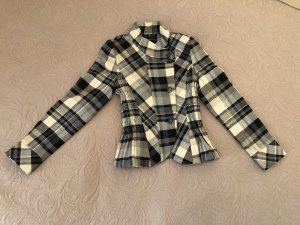 Zara Woman Giacca di lana nero-bianco