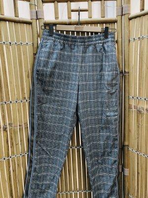 Karo Jogpants/ Stoffhose Gr.36 Zara mit Zierstreifen
