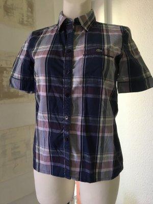 Karo-Kurzarm-Bluse *Lacoste* Gr. 38