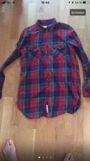 H&M Lumberjack Shirt dark red-blue