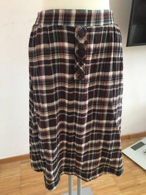 Zara Jupe taille haute noir-brun