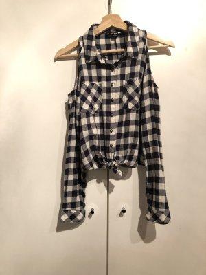 Flannel Shirt white-dark blue cotton