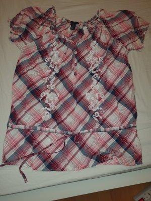 Karo-Shirt zum Raffen von Tommy Hilfiger