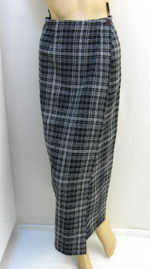 Wraparound Skirt black-white mixture fibre