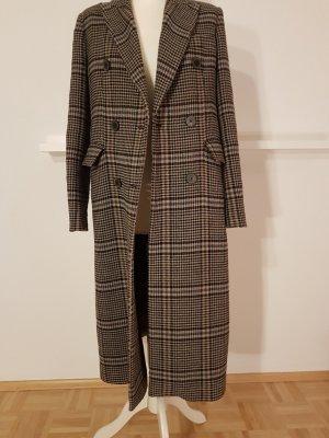 Karo Woll Mantel von Zara in S