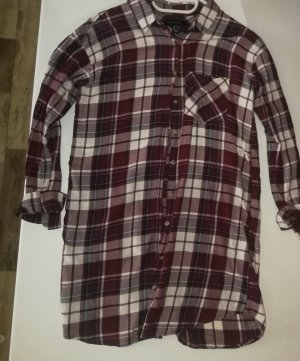 Atmosphere Checked Blouse bright red