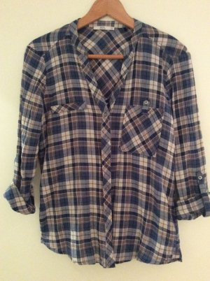Edc Esprit Long Sleeve Shirt blue-mauve
