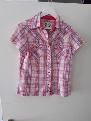 BlendShe Checked Blouse pink