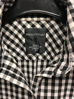 Marc O'Polo Geruite blouse wit-zwart