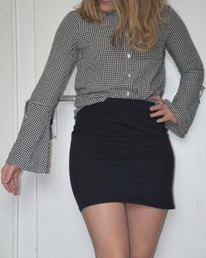 H&M Geruite blouse zwart-wit Viscose