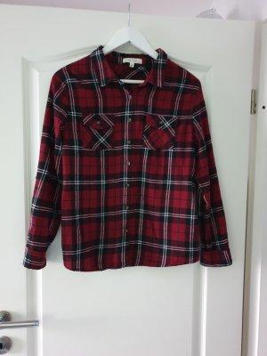Camicia da boscaiolo nero-bordeaux