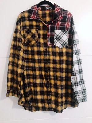 Missguided Camisa de leñador amarillo-rojo
