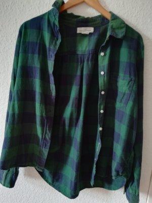 H&M L.O.G.G. Camicia da boscaiolo verde bosco-blu scuro