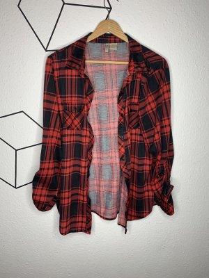 Chemise de bûcheron noir-rouge brique