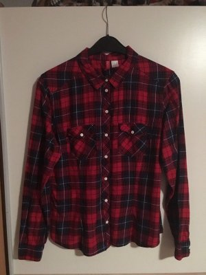 H&M Lumberjack Shirt dark red-black
