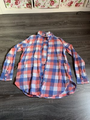 d5bf492809526d Karohemd kartiertes Hemd Bluse blau weiß orange neu Holzfällerhemd. H&M