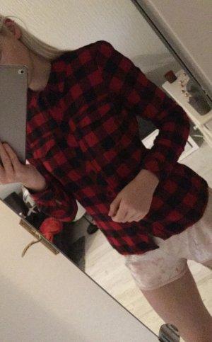 Only Houthakkershemd zwart-rood
