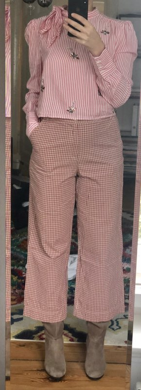 TRF Culottes rose-gold-coloured-natural white