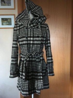 Zara Basic Manteau à capuche multicolore