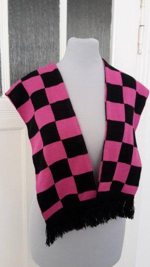 Karoschal - gemustert - pink- schwarz