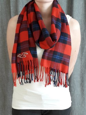 Hollister Fringed Scarf multicolored