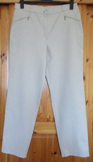 Karotte Damenhose Jeanshose Stretch  Hellbeige oder Sandfarben Gr. 46