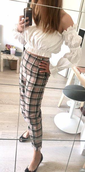 Alexander McQueen Pantalón de cintura alta multicolor