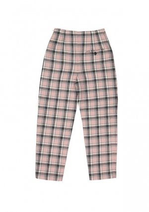 Alexander McQueen Pantalone a vita alta multicolore