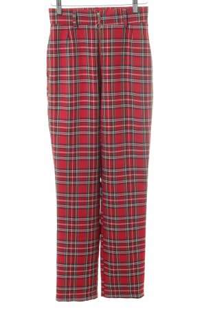 Peg Top Trousers glen check pattern casual look