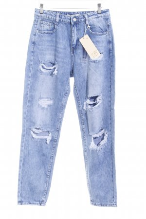 Carrot Jeans blue distressed style