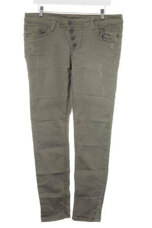 Jeans carotte kaki style décontracté